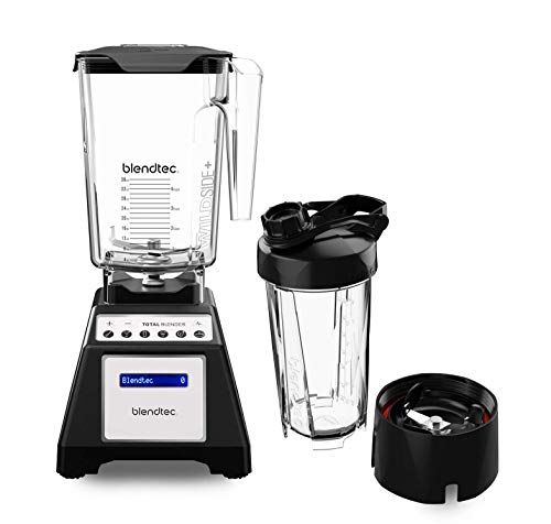 Blendtec Designer Series WildSide (90 oz) GO Travel Bott Countertop Blender, 90oz/34oz, WildSide & Go Jars Black