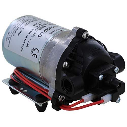 "Pentair SHURflo 8009-541-236 Lawn and Garden Automatic-Demand Diaphragm Pump, 1.0 GPM With Viton Valves, Santoprene Diaphragm, 60 PSI Demand Switch, 12V, 3/8"" NPT Female Port"