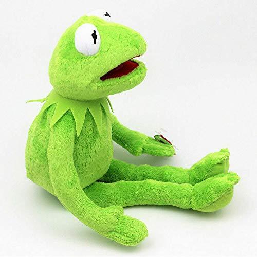 ZYBB Kermit Frosch Puppen Plüschtier -SEsamstraße Die Muppet Show Puppe Kermit Der Frosch Handpuppen Plüschtiere Weihnachtsferien Geschenk Für Kinder 45CM/ Grün