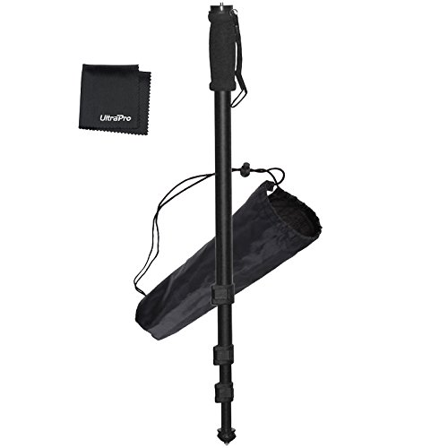 """UltraPro 72"""" Monopod Bundle for Canon, Nikon, Sony, Samsung, Olympus, Panasonic, Pentax, and All Digital Cameras, Includes UltraPro Microfiber Cleaning Cloth"""