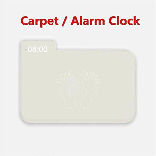 MFFACAI Wecker Kreativer Teppich-Teppich Wecker-Teppich-Teppich Wecker-nur stoppt, wenn Sie auf ihm Stehen - Vor-Entwurf für modernes Haus