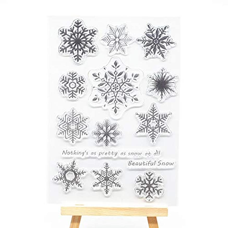 Welcome to Joyful Home 1pc Beautiful Snow Rubber Clear Stamp for Card Making Decoration and Scrapbooking