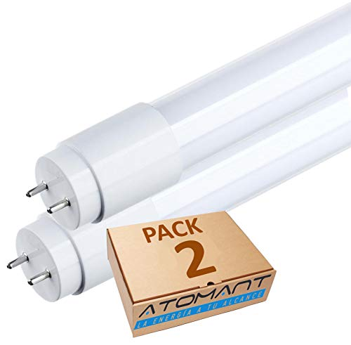 Pack 2x Tubo LED 60 cm, 9W. T8 Standard. Color Blanco Neutro (4500K). 870 Lumenes. Cebador LED incluido. A++