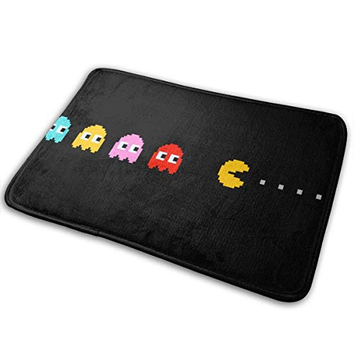 Bikofhd Door Mat Pacman Non-Slip Bath MatDecorative Doormat,Bathroom Kitchen Floor Carpet Mat 23.6x15.8