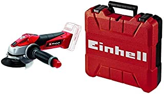 Einhell TE-AG 18 Li Solo Power X-Change 18 V Lithium 115 mm Cordless Angle Grinder - Black/Red/Stainless Steel with Einhel...