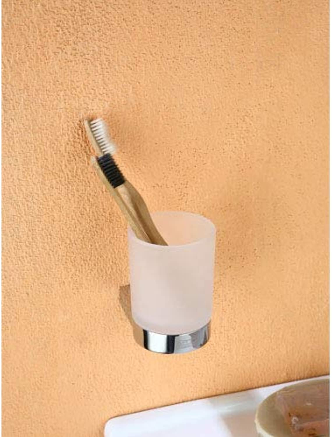 blueewater Chromed Handle with Glass for Bathrooms DOR-97050, Grey