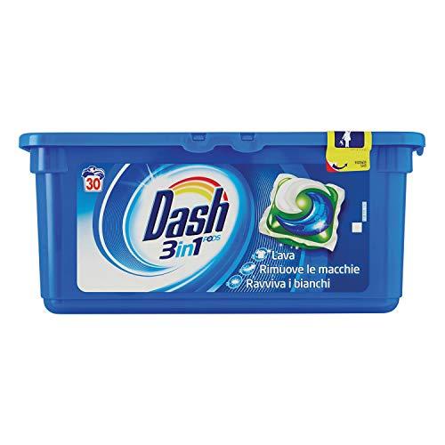 Dash Pods 3in1 Waschmittel für Einzeldosen, regelbar 30 Waschgänge, 810 g