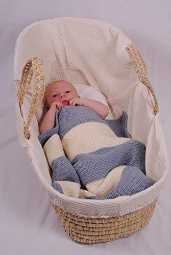 BellaLotta Strickanleitung Babydecke Herzenswunsch - 50x60 und 64x80cm, für Anfänger - digital