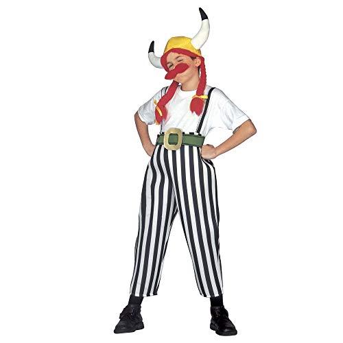 Widmann 38286 - Kinderkostüm Gallier, Hose mit Hosenträgern, Gürtel, Helm mit Zöpfen, Schnurrbart, Fasching, Karneval, Mottoparty