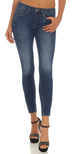 Only Onlkendell Reg SK ANK JNS Cre178067 Noos Vaqueros Skinny, Gris (Medium Blue Denim Medium Blue Denim), W28/L32 para Mujer