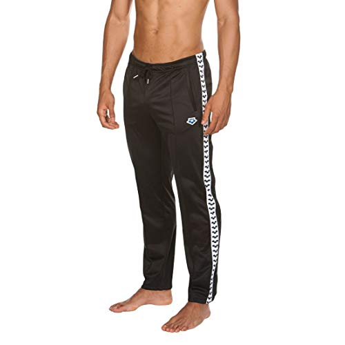 ARENA Herren Unisex Icons Hose Split Side Team Trainingshose, Black-White-Black, M