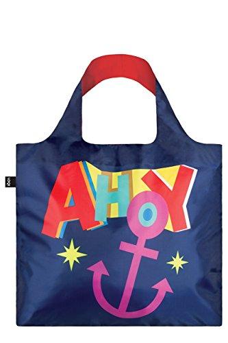 LOQI Artist Nautical Ahoy Bag Strandtasche, 50 cm, 20 liters, Mehrfarbig (Multicolour)