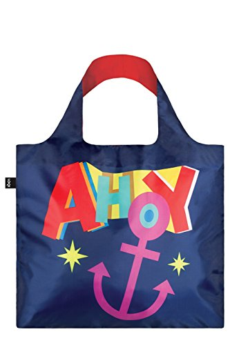 LOQI Artist Nautical Ahoy Bag strandtas, 50 cm, 20 liter, meerkleurig (multicolour)