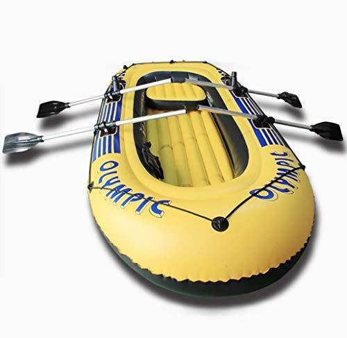 GUOE-YKGM Kayak Faltkajak - Aufblasbares 5-Personen-Kajakset Mit Schlauchboot, Leistungsstarker Luftpumpe Und Zwei Aluminiumrudern - Angler Und Freizeitsportler Sitzen Auf Leichtem Angelkajak