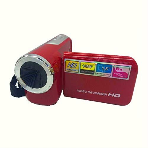 wenjinghua WJH Videocamera Digitale Portatile da 1,5 Pollici 16 Milioni di Pixel HD for Bambini DV (Nero) (Colore : Red)