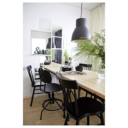 MSAMALL KULLABERG Schreibtisch Kiefer schwarz 110x70 cm robust und pflegeleicht bis zu 4 Sitzplätze Esstisch Tische & Schreibtische Möbel Umweltfreundlich