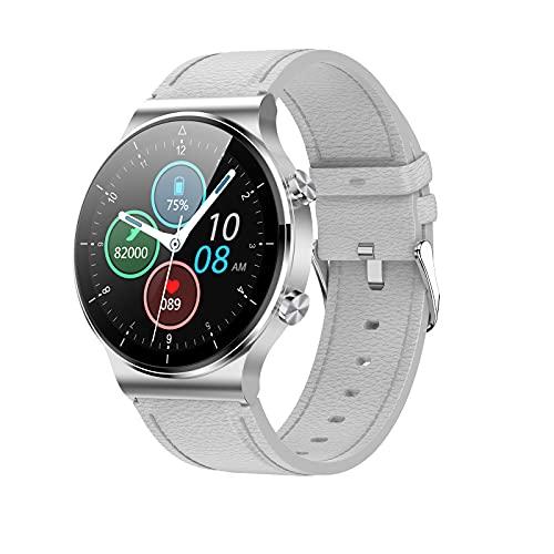 Smartklocka för män Android smartklocka med samtalssvar, blodtryck pulsmätare fitness tracker klocka för musik/sladdlös laddare, IP 68 vattentät sport smartklocka