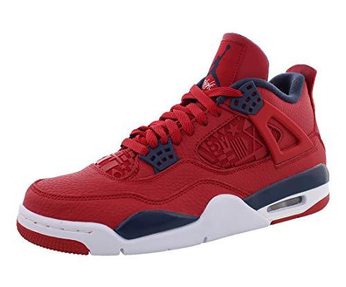 Jordan Nike Air 4 Retro Se Mens Sneakers CI1184-617, Gym Red/Obsidian-White-Metallic Gold, Size US 12