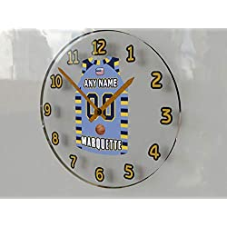 FanPlastic College Basketball USA - We're Number ONE College Hoops Wall Clocks - Support Your Team !!! (Marquette Golden Eagles)