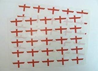 Paquet de 64 Angleterre autocollantes Drapeau AUTOCOLLANTS CROIX DE ST GEORGE /étiquettes autocollantes 20x12mm