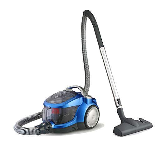 Huishoudelijke stofzuiger, 1200 W hoog vermogen, capaciteit 1,4 l, 5m netsnoer, automatisch oprollen, met multifunctionele vloerborstel (blauw)