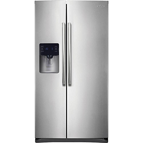 Samsung RS25H5111SR Energy Star 24.5 Cu. Ft. Side-by-Side Refrigerator/Freezer with External Water/Ice Dispenser and In-Door Ice Maker, Stainless Steel