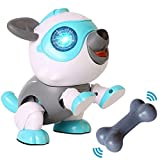 Robot Dog for Kids, DIY Magic Robo Dogs Toy with Voice Control, Touch Control, Light Flashing Eye, Smart Electronics Pet Dog Toys Interactive Puppy Gift for 3-12 Year Old Boys Girls