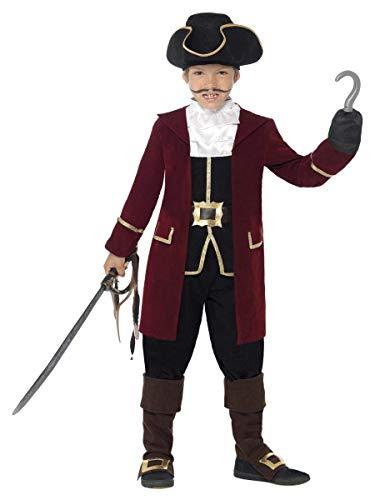Aptafêtes - CS843997/M - Costume Garçon Capitaine Pirate Luxe - Taille M - 7/9 ans