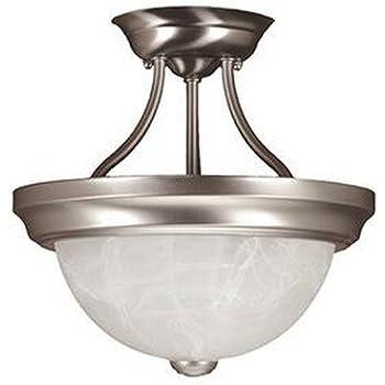 Satin Nickel Millennium Lighting 561-SN 2-Light Flush Mount Ceiling Fixture