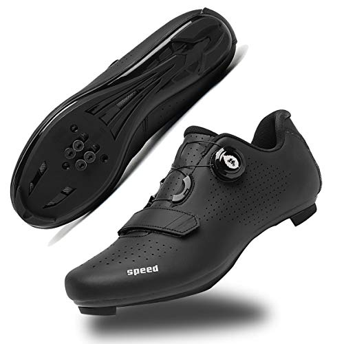 Mens Cycling Shoes Road Bike Shoe with SPD,Peloton Shoes with Buckle Delta...
