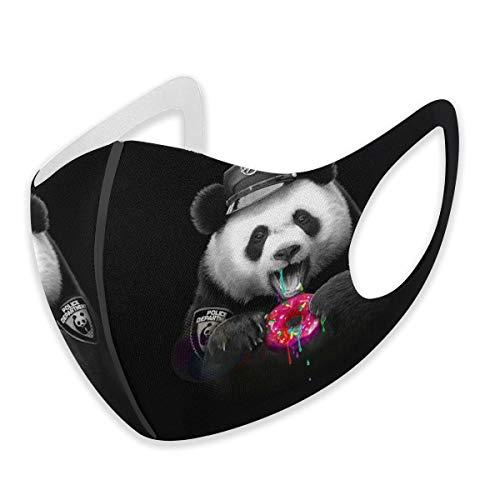 Anti Staub Mund für Erwachsene für Frauen und Männer, lustiger Panda, Polizei, Essen, Donut, bequem, halber Gesichtsschutz