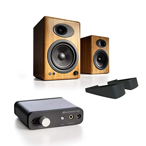 New Audioengine A5+ Powered Desktop Speaker (Pr) - Bundle w/DS2 Speaker Stands & Audioengine D1 Digi...