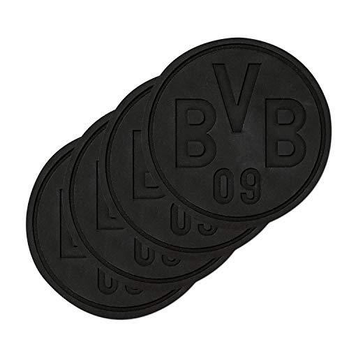 Borussia Dortmund Silikonuntersetzer, Untersetzer 4er Set BVB 09 (L)