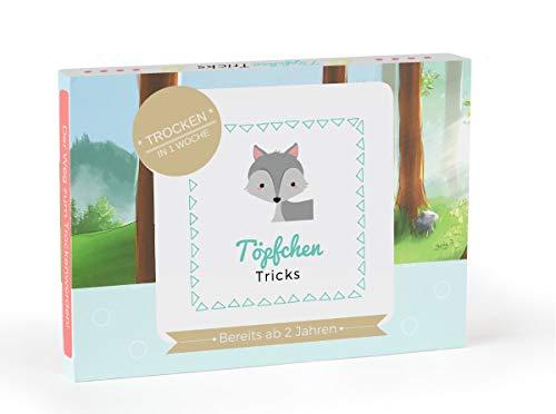Töpfchen Tricks - Töpfchentraining Kleinkind - Trockenwerden mit Belohnungssystem (10 Stickerkarten Doppelseitig, 120 Sticker und Pipi-Zeugnis)