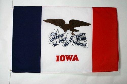 AZ FLAG Drapeau Iowa 90x60cm - Drapeau Etat américain - USA - Etats-Unis 60 x 90 cm - Drapeaux