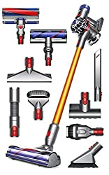 Extremely Versatile Cleaner with No Cords! Includes Two Cleaner Heads for Complete Hard Floor and Carpet Cleaning Up to 40 Minutes of Run Time - The Dyson Digital Motor Spins Up to 110,000 RPM to Generate Powerful Suction The Dyson V8 Absolute has be...