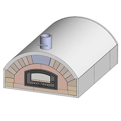 PUR chamotte Merano pizzaoven bouwset houten oven inclusief handleiding Outdoor D: Premium XXL mit Verkleidung & Tür D: Premium XXL met bekleding en deur.
