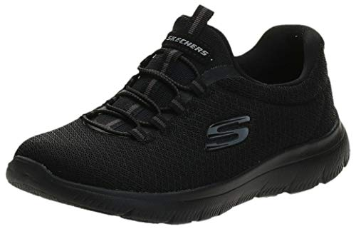 Skechers Women 12980 Low-Top Trainers, Black (Black), 5 UK (38 EU)