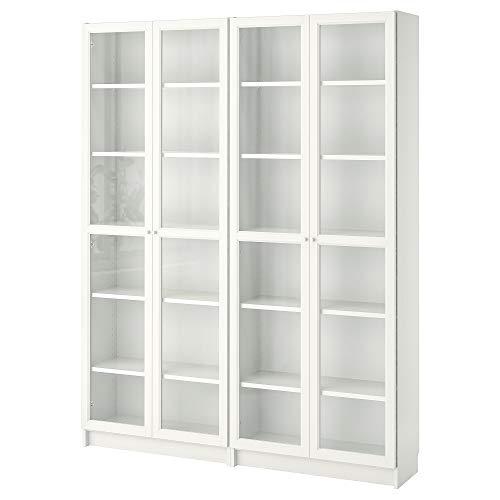 BILLY/OXBERG estantería 160x30x202 cm blanco/cristal