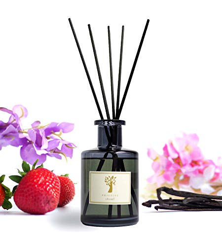 Ritz-Carlton Hotel Inspired Reed Diffuser Set | Scented Sticks with Notes of Strawberry, Vanilla, Etc | Reed Diffuser Stick with Essential oil 6oz | Oil Sticks Diffuser for Home Decor / Fragrance Gift