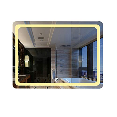 Badkamerspiegel met, wandhouder led met licht HD Smart anti-condens badkamer make-up spiegel
