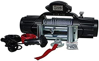 Engo (Xr Model) 10,000 Lb. (4536Kg) 12 Volt Electric Winch, Black Satin Finish(Ip68)