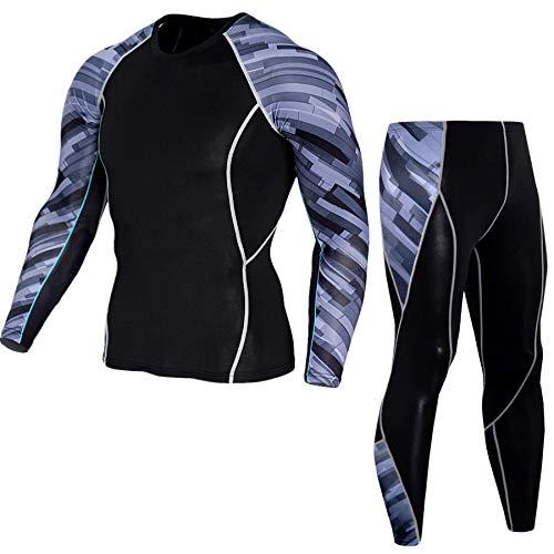 T-Shirt pour Hommes Sports Wear Cyclisme Costume Manches Longues Fitness Hommes Cyclisme Porter séchage Rapide Super Elastic Set Pro,J-L
