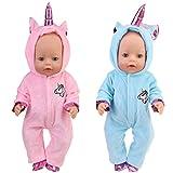 XCSW Disfraz de Unicornio Bebe Baby Born Onesie Unicorn Pelele de muñeca Ropa de Bebe Unicornio para...