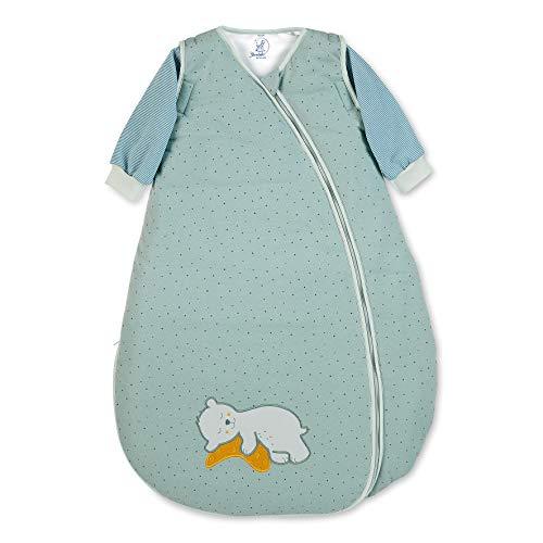 Sterntaler Schlafsack, Bär Ben, Abnehmbare Ärmel, Wärmeregulierung, Reißverschluss, Größe: 90 cm