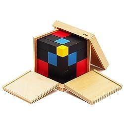 【MONTE Kids】モンテッソーリ教具 -- 三項式 -- Montessori 知育玩具教具 幼児早期教育 モンテキッズ 本格教材 算数 おもちゃ -- 三項式 --