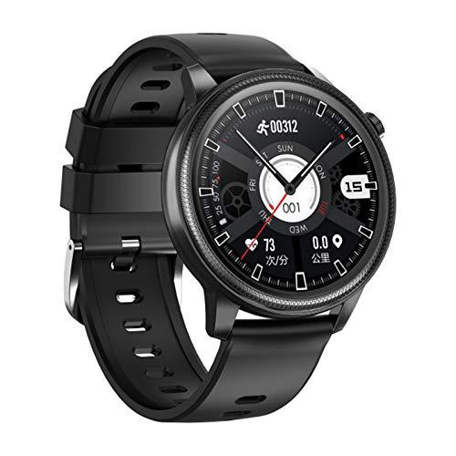 Gulu S31 Smart Watch Men IP68 Impermeable Impermeable 1.28 Pulgadas Pantalla ECG PPG Smartwatch Mujere Femenino Ratio Corazón Monitor De Presión Arterial Tracker Fitness,Negro