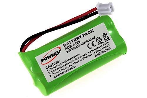 Batería de alta calidad para Siemens Gigaset AS 15AS140/A140/A150/A160/A165/A240/A245/A260/A265/T-Com Sinus 100/Voltaje 2,4V