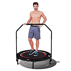 in budget affordable Tomasar 40 Mini trampoline, foldable fitness trampoline with adjustable handle …