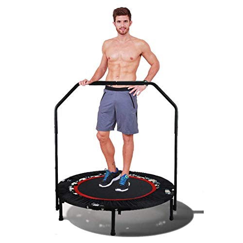 """Tomasar 40"""" rebounders Mini Trampolines, Foldable Fitness Trampoline with Adjustable Handle Indoor Exercise Fitness Mini Trampoline for Adults/Kids (US Stock)"""